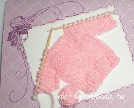 открытка для новорожденной девочки