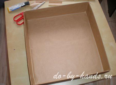 как обклеить коробку