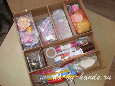 Как своими руками сделать коробку для рукоделия
