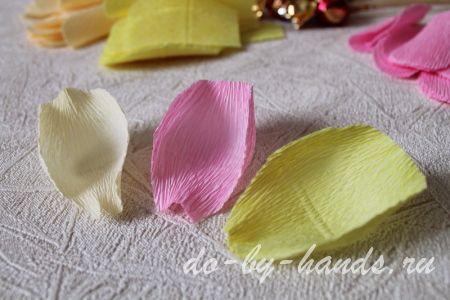 процесс изготовления лепестка