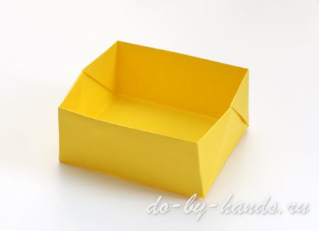 простая коробочка из бумаги
