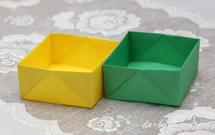 Как сделать из бумаги коробку фото 648