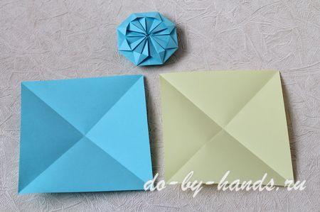 Из прямоугольных листов бумаги