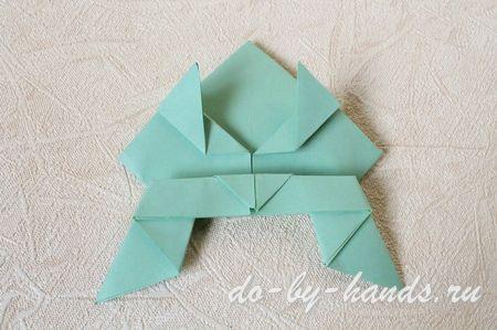 прыгающая лягушка оригами