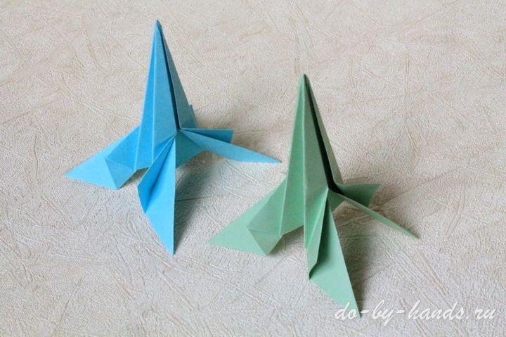 Оригами ракета из бумаги