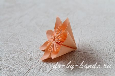 цветок оригами из модулей