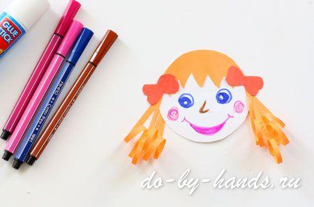 лицо из бумаги для куклы