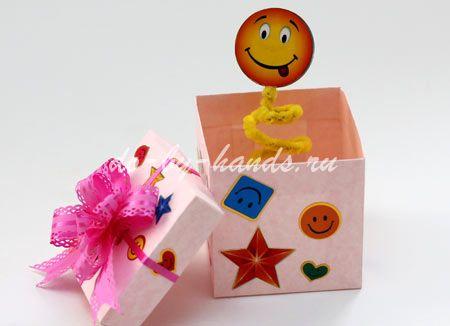Коробочка сюрприз своими руками для детей 10