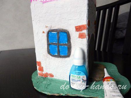 домик из коробки для гнома