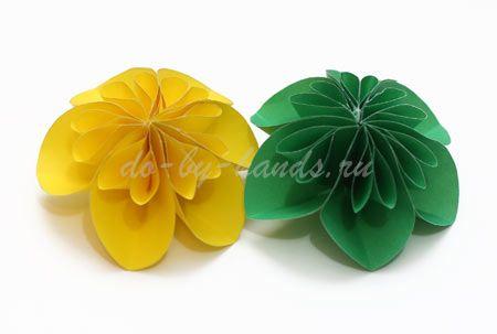 Цветы из кругов бумаги своими руками