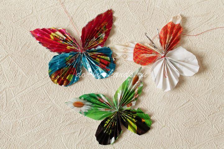 Простые поделки из фантиков от конфет своими руками пошагово