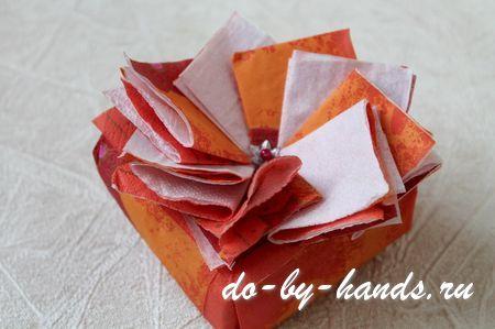 Как украсить коробку своими руками фото