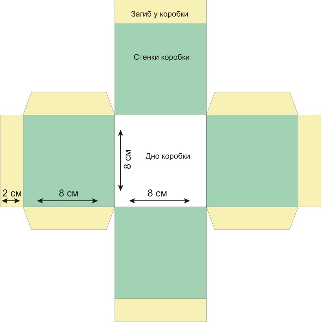 Как сделать квадратную коробку из картона 123