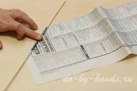 трубочки из газет