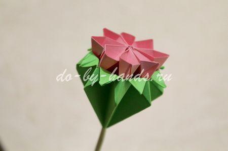 цветок примулы оригами
