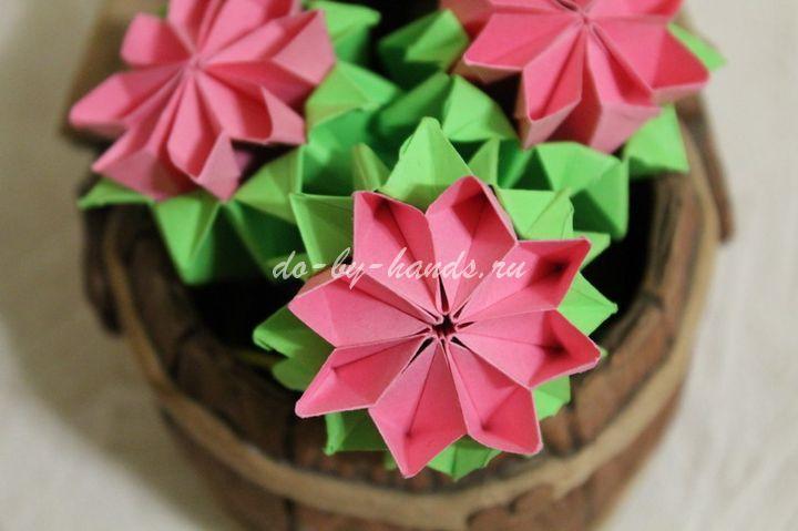 Оригами примула схема