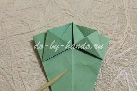 модуль чашелистика для цветка оригами