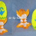 пасхальное яйцо модульное оригами