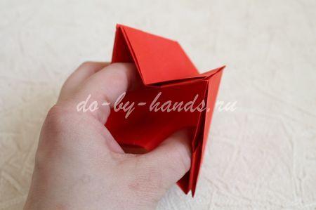 корзинка оригами