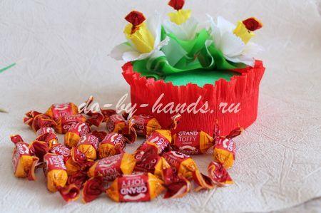 нарциссы из конфет