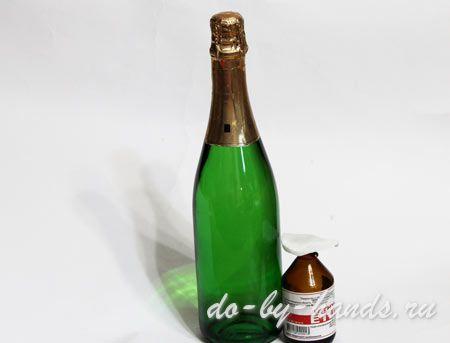 Бутылка шампанского из конфет своими руками мастер