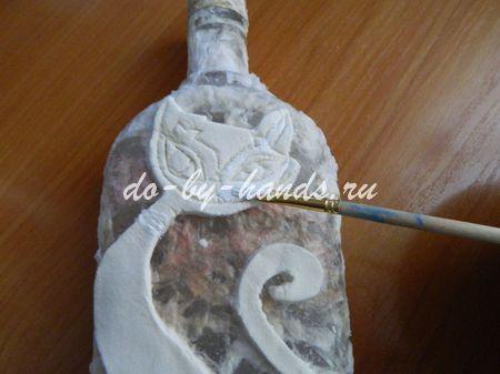 декорирование бутылки своими руками