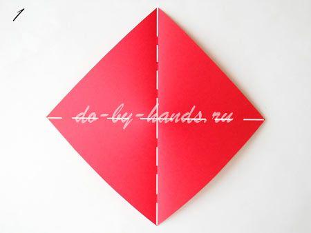 оригами коробочка с крышкой 1.