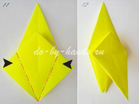 оригами курочка