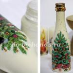 декупаж новогоднее шампанское