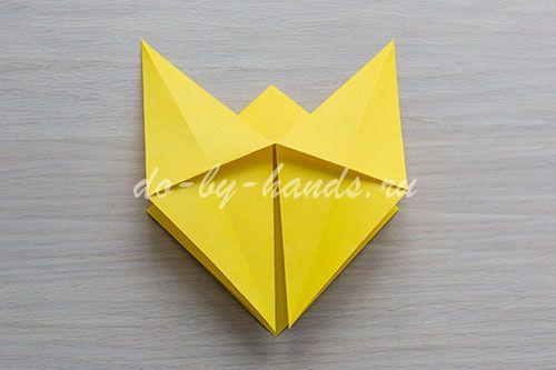лошадка оригами схема
