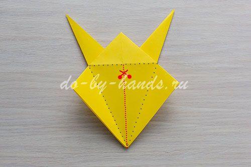 схема лошади оригами