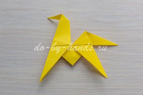оригами лошадка схема