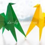 оригами лошадь схема сборки