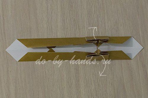 меч из бумаги оригами