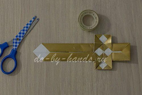 Как сделать из бумаги нож без скотча