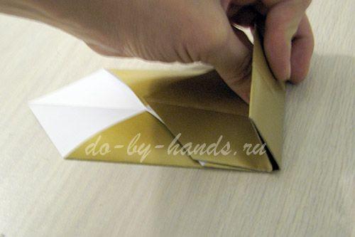 Оригами из бумаги меч схема