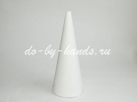 Елка из бумаги своими руками из конуса