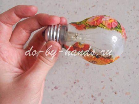 Игрушка из лампочки своими руками мастер класс