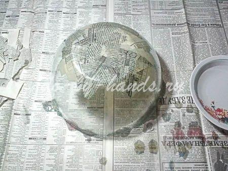 тарелка папье маше своими руками