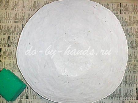 тарелка папье маше мастер класс