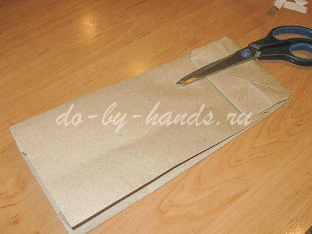 пакет из крафт бумаги
