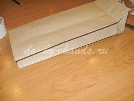 Как сделать крафт пакет из бумаги своими