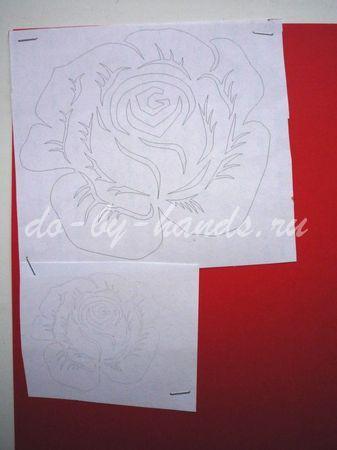 открытка на день рождения в технике вырезание