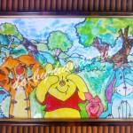 витражный рисунок на стекле