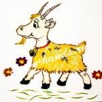 поделка из крупы коза своими