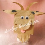 праздничная упаковка коза, новогодняя
