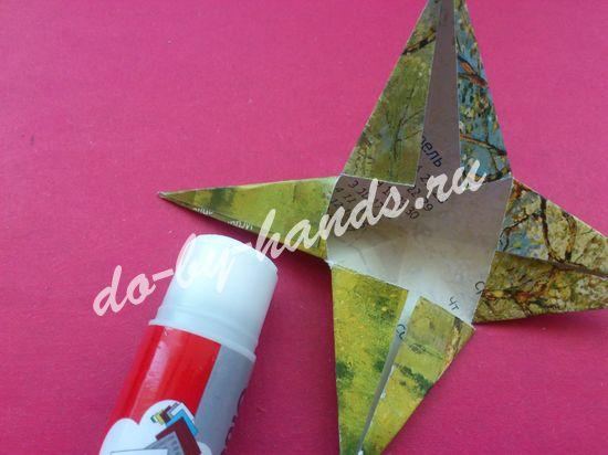 Фото как сделать звезду из бумаги