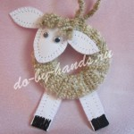 новогодняя игрушка овечка на елку