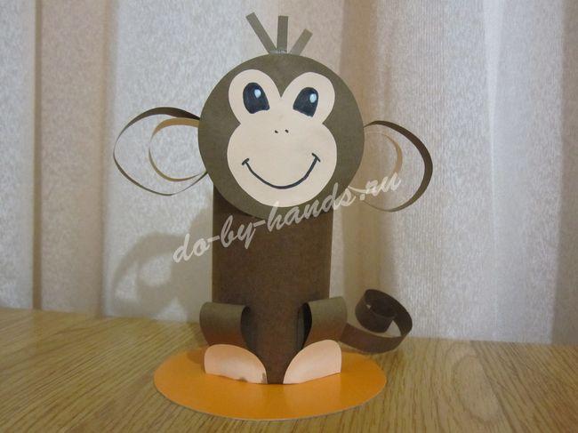 детская поделка обезьянка