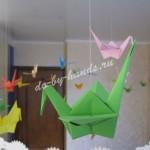 оригами журавлики из бумаги